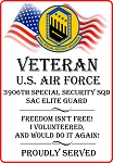 3906th Special Security Sqd. Veteran Freedom Magnet
