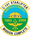 C-141 Mission Complete Decal
