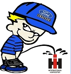 Calvin (Ford - IH) Decal
