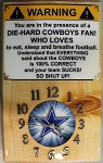 Cowboys Mancave Wood Wall Clock
