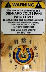 Colts Mancave Wood Wall Clock