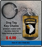 101st Airborne Division Key Chain