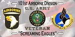 101st Airborne Division w/flag License Plate