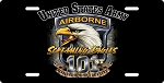 101st Airborne Division License Plate