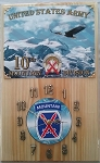 10th Mountain Division Clock