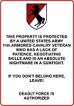 11th Armored Cavalry Regiment Veteran Decal