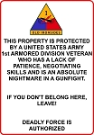 1st Armored Division Veteran Sign