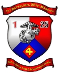 1st BN - 25th Marines Magnet