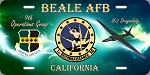 1st Recon Sqd, Beale AFB License Plate