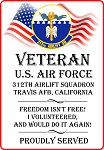 312th Airlift Squadron Veteran Decal