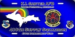 410th Supply Squadron License Plate