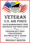 449th BMW - Kincheloe AFB Veteran Freedom Decal