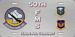50th FMS - Hahn AFB  License Plate