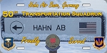 50th Trans Sqd. - Hahn AFB  License Plate