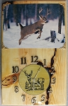 Running Whitetail Buck Clock