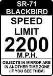 SR-71 Speedlimit Sign