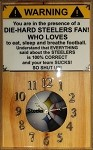 Steelers Mancave Wood Wall Clock