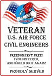 USAF-Red Horse Veteran Freedom Decal