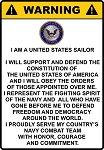 United States Sailor Sign