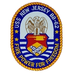 USS New Jersey (BB-62)  Decal