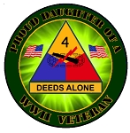 4th Armored Division WWII Vet (daughter) Decal