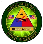 4th Armored Division WWII Vet (son) Decal