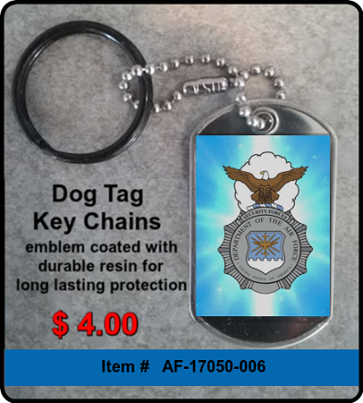 USAF Security Forces Badge Key Chain