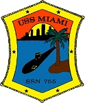 USS Miami SSN-755 Decal