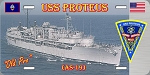 USS Proteus  License Plate