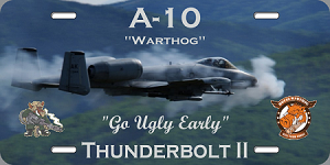 A-10 Warthog License Plate